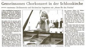 Gemeinsames Chorkonzert in der Schloßkirche